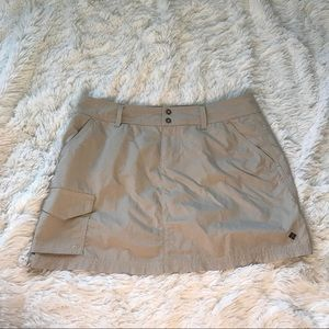COLUMBIA MINI SKIRT TAN COLOR